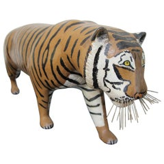 Carved Wood Tiger by Carl Christiansen