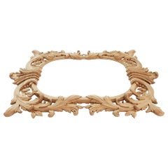 Carved Wood Wall Mirror Frame from Oak or Beech