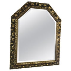 Carved Wooden Gold Leaf Mirror