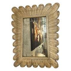 Carved Wooden Mirror, 1940s