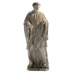 Carved Wooden Saint, England Circa 1790