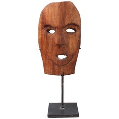 Carved Wooden Traditional Mask from Timor Island, Indonesia, circa 1970s