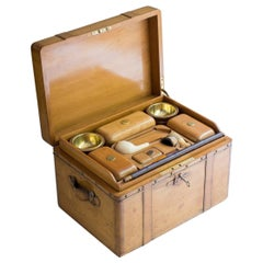Carved Wooden Trunk/Smokers Compendium, circa 1900
