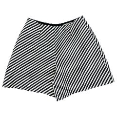 Carven Black and White Shorts, Size 38
