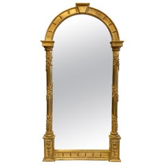 Carvers Guild Gold Giltwood Arched Niche Mirror
