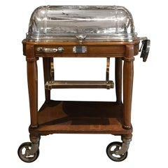 Carving-Trolley Designed by Christofle, Silver Plated, circa 1940