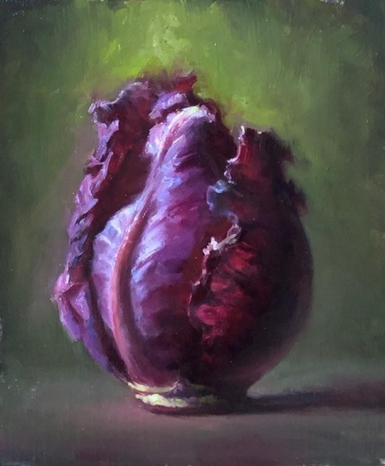 """Cary Ennis Still-Life Painting - """"Glow from a Growing Heart"""""""