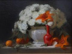 """Light on Orange and White"""