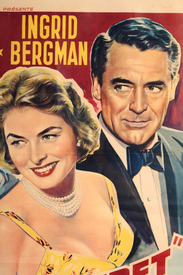 From Warner Brothers is this Original Belgium Movie Poster of Indiscret starring Cary Grant and Ingrid Bergman that was found in Paris over 35 years ago. Indiscreet is a 1958 Technicolor British romantic comedy film directed by Stanley Donen and