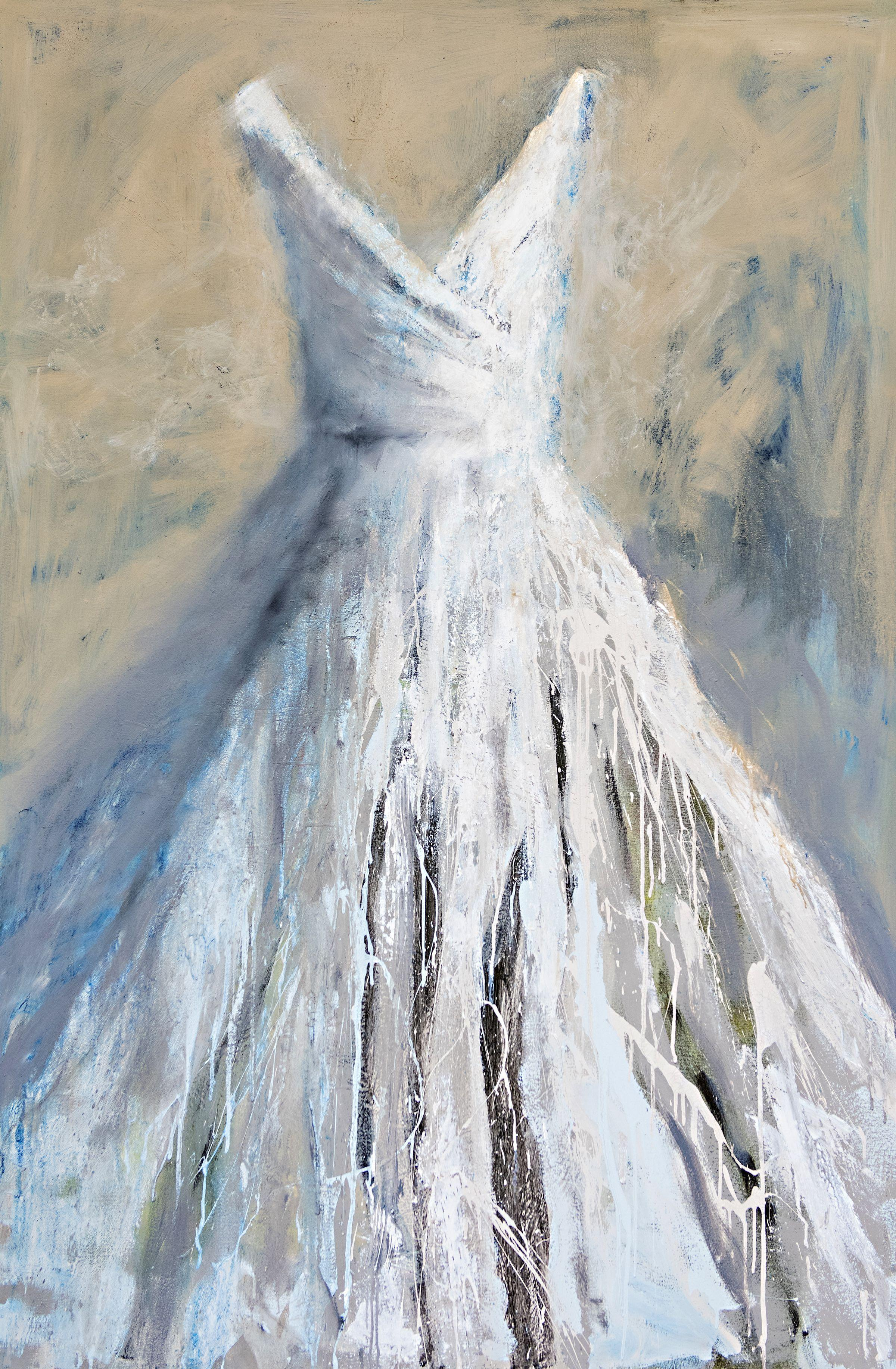 Dreaming by Carylon Killebrew Large Contemporary Gown Oil on Canvas