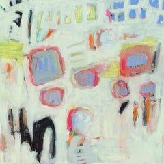 Garden 1 by Carylon Killebrew, Medium Square Abstract Painting in Pastel Palette