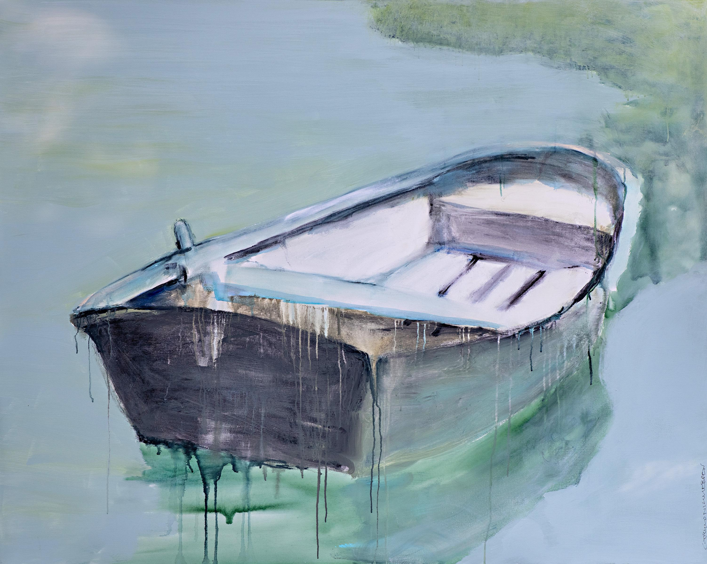 Making Believe by Carylon Killebrew Large Contemporary Boat Oil on Canvas