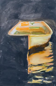 You Call Me Beyond the Waters by Carylon Killebrew, Large Vertical Boat Painting