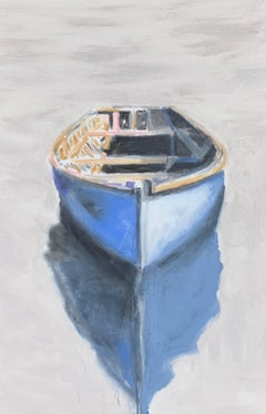 You Make Me Brave by Carylon Killebrew, Large Vertical Boat Painting