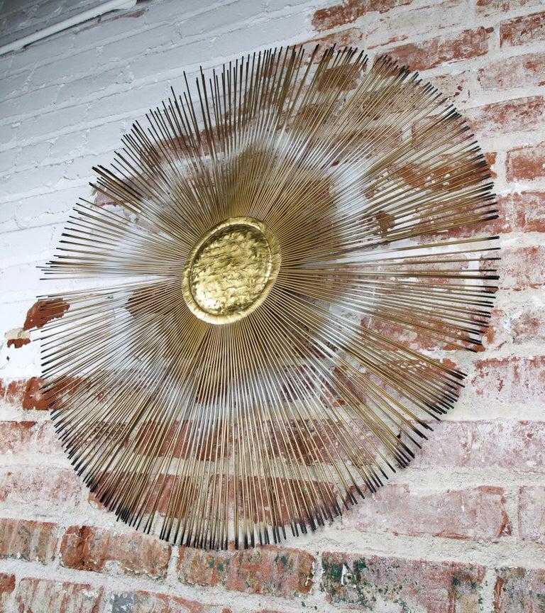 Mid-Century Modern Casa Devall Sunburst Wall Sculpture For Sale