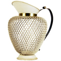 'Casa E Giardino' Brass and Painted Iron Pitcher, circa 1938