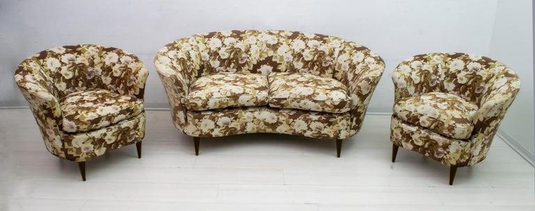 Casa e Giardino Mid-Century Modern Italian Small Sofa, 1950s For Sale 7