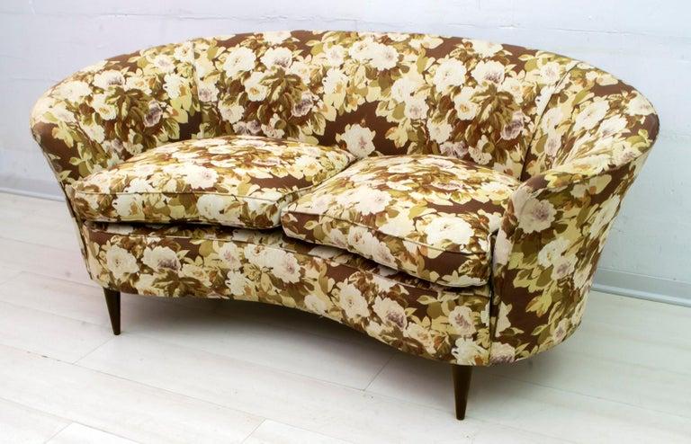 Mid-20th Century Casa e Giardino Mid-Century Modern Italian Small Sofa Two Small Armchairs For Sale