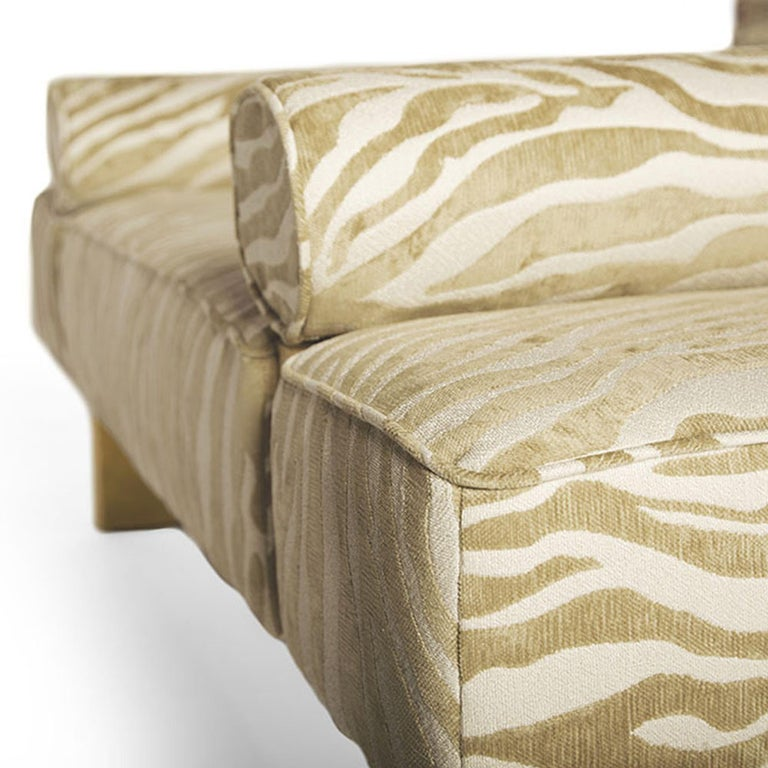 Casablanca Bench in Wood and Animal Print by Badgley Mischka Home 4