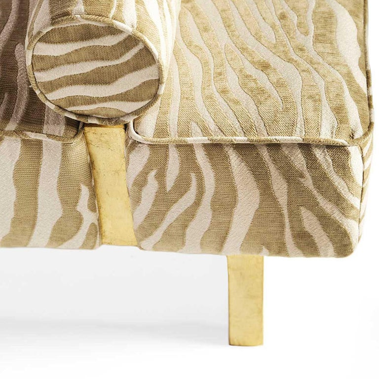 Casablanca Bench in Wood and Animal Print by Badgley Mischka Home 5