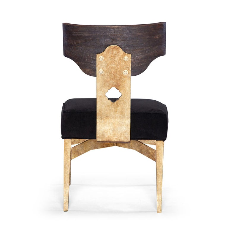 Phenomenal Casablanca Desk Chair In Black And Gold Leaf By Badgley Mischka Home Caraccident5 Cool Chair Designs And Ideas Caraccident5Info