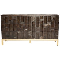 Casablanca Dresser in Chocolate and Gold Leaf by Badgley Mischka Home