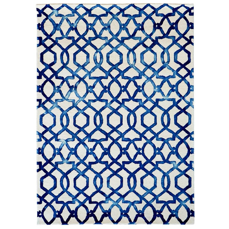 Casablanca Hand Woven Modern Rug New Zealand Wool by Deanna Comellini 140x200 cm For Sale