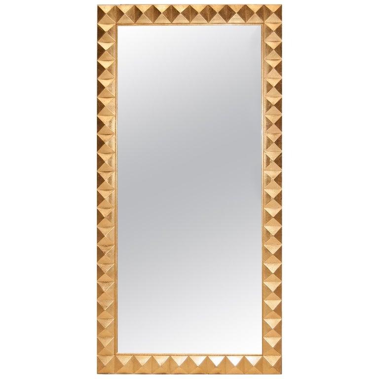 Casablanca Mirror in Gold Leaf by Badgley Mischka Home For Sale