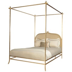 Casablanca Poster King Bed with Gold Leaf Frame by Badgley Mischka Home