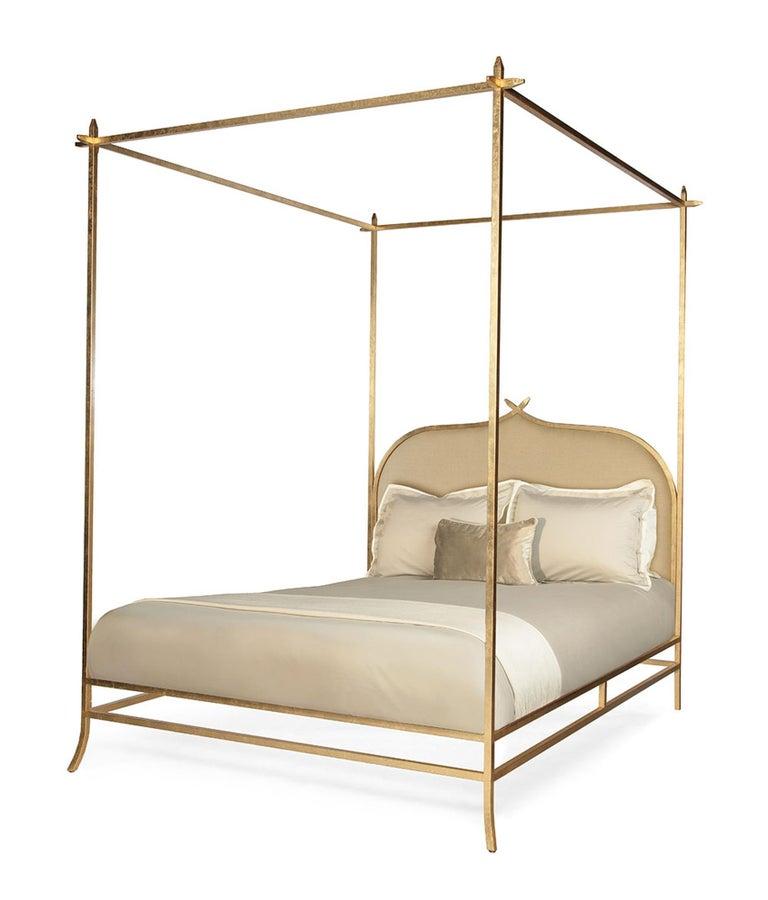 Casablanca Doppel-Himmelbett mit Blattgold-Rahmen von Badgley Mischka Home 2
