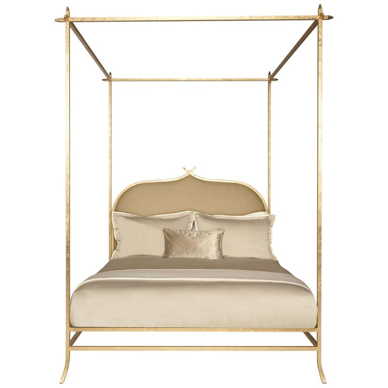 Casablanca Poster Queen Bed with Gold Leaf Frame by Badgley Mischka Home 1