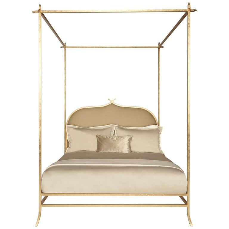 Casablanca Doppel-Himmelbett mit Blattgold-Rahmen von Badgley Mischka Home 1