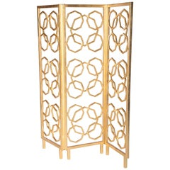 Casablanca Room Screen in Gold by Innova Luxuxy Group