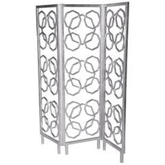 Casablanca Room Screen in Silver by Innova Luxuxy Group