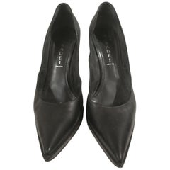 Casadei Black Leather Decollete