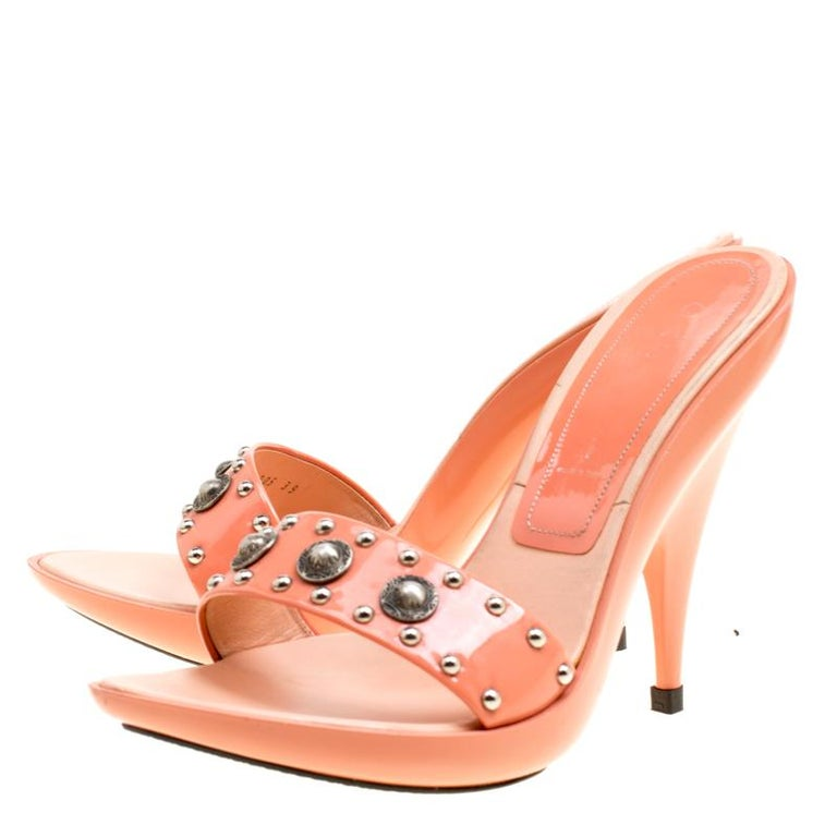 8103fd1e6a Get set to dazzle wherever you go in these ethereal mules from Casadei. The  peach