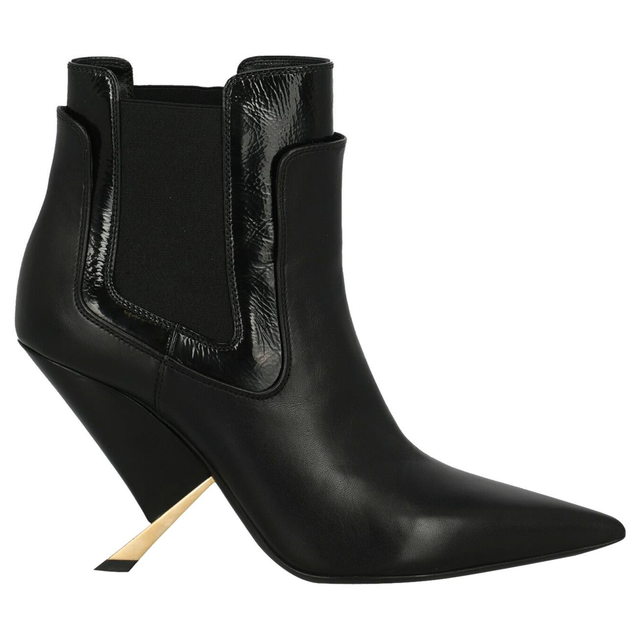 Casadei Woman Ankle boots Black Leather IT 40