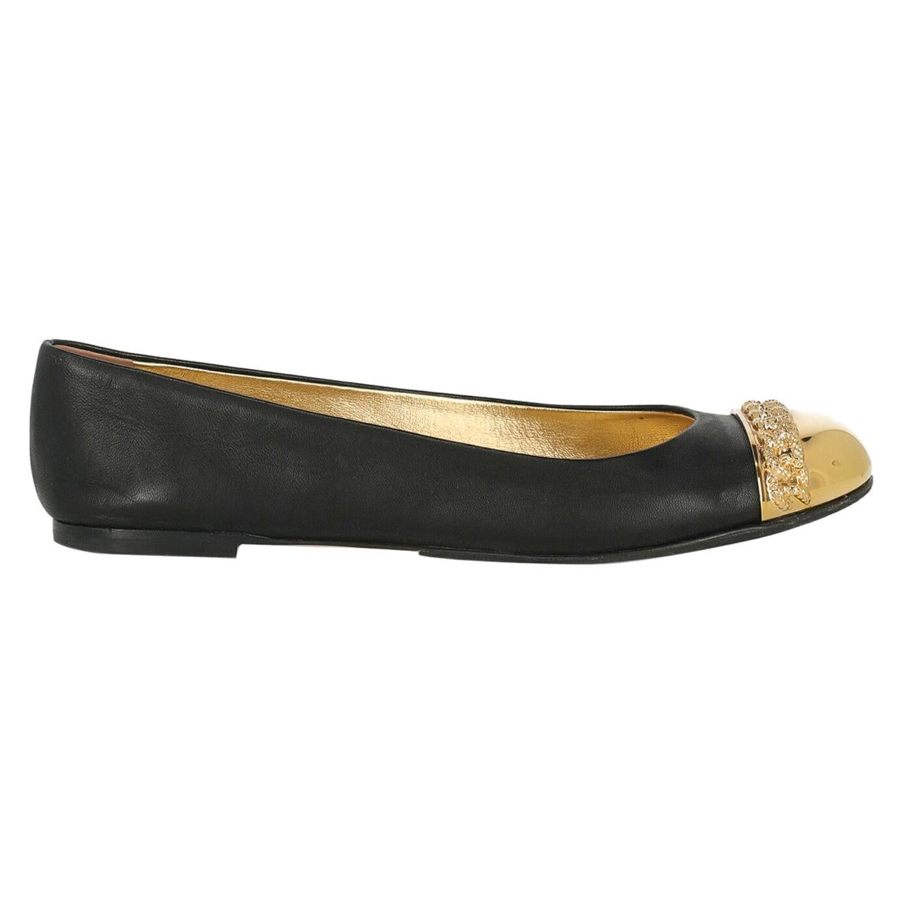 Casadei Woman Ballet flats Black Leather IT 37.5
