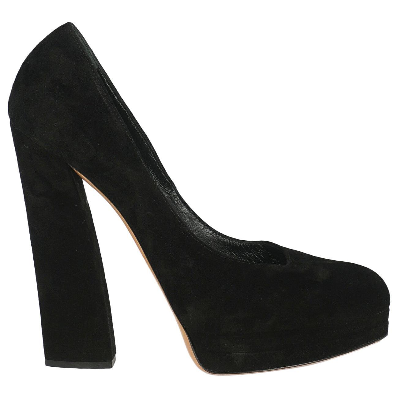 Casadei Woman Pumps Black Leather IT 38.5