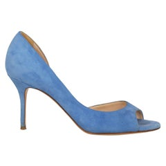 Casadei Woman Pumps Blue Leather US 6