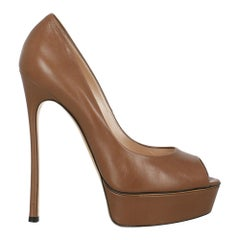 Casadei Woman Pumps Brown Leather