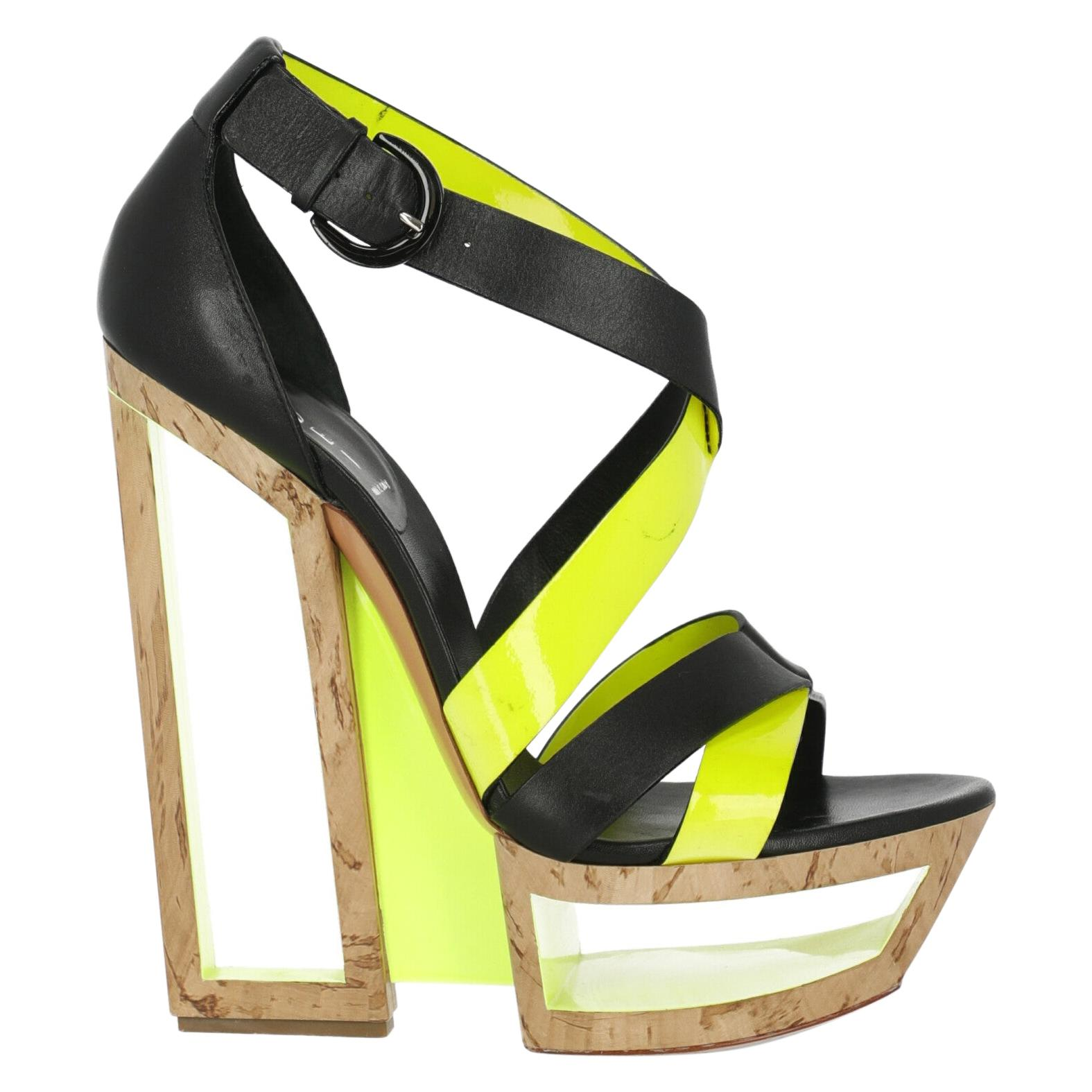 Casadei Woman Sandals Black Leather US 8
