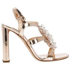 Casadei Woman Sandals Bronze EU 37