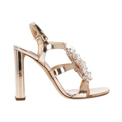 Casadei Woman Sandals Bronze Leather IT 35.5