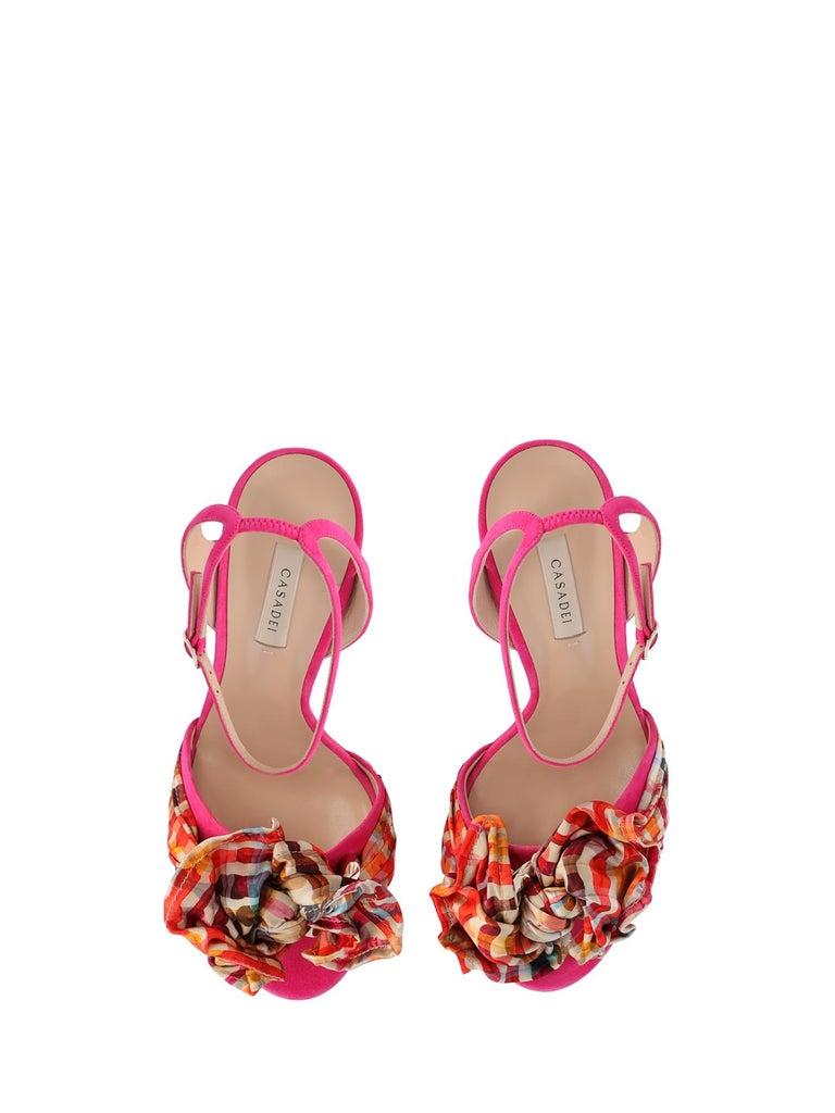 Women's Casadei Woman Sandals Gold Leather IT 35.5