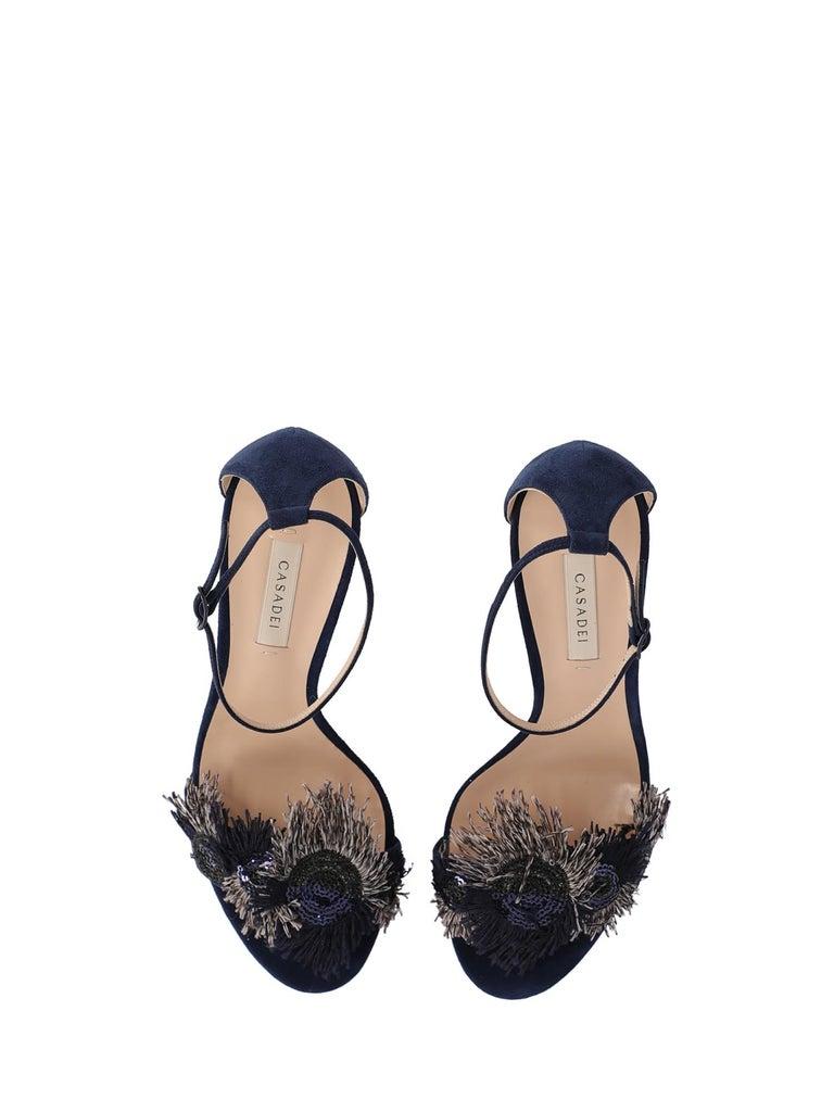 Women's Casadei Woman Sandals Navy Leather IT 36.5