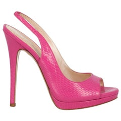 Casadei Woman Sandals Pink Leather US 7
