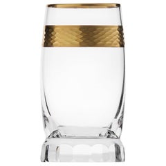 Casanova Distillate Crystal Tumbler with 24-Karat Gold Decor, 2.36 oz