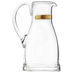 Casanova Water Jug Lead-Free Crystal Clear with 24-Karat Gold Decor, 1.5 qt