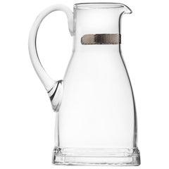 Casanova Water Jug Lead-Free Crystal Clear with Platinum Decor, 1.5 qt.